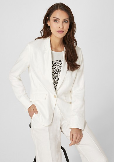 Fitted linen blazer from s.Oliver