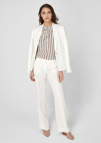 Linen business trousers from s.Oliver