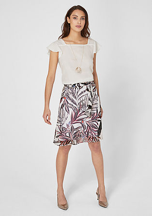 Chiffon skirt with tropical print from s.Oliver