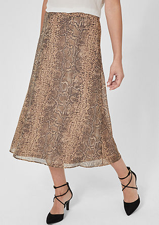 Chiffon skirt with an animal print from s.Oliver