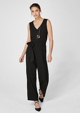 Elegant jumpsuit with a button placket from s.Oliver