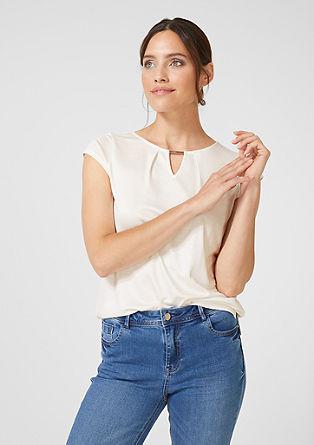 Jersey shirt met een sierdetail