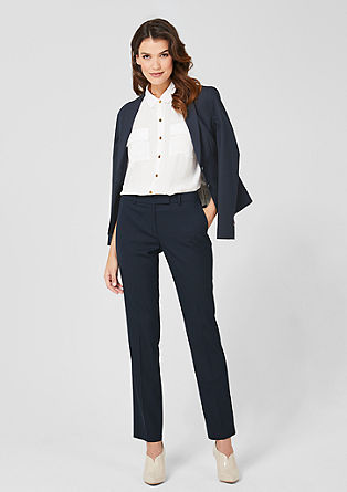 Eve Easy: Finely textured trousers from s.Oliver