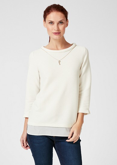Textured top with a chiffon detail from s.Oliver