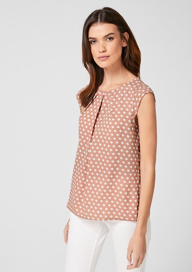 Chiffon blouse with polka dots from s.Oliver