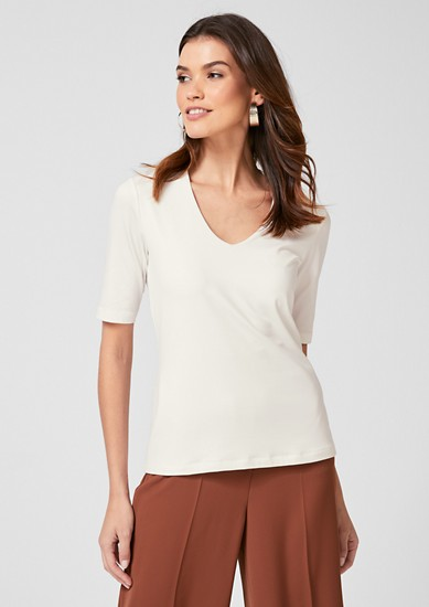 Jersey top with mid-length sleeves from s.Oliver