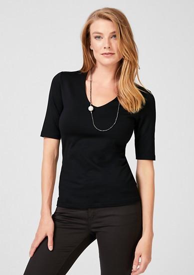 Jerseyshirt mit halblangen Ärmeln