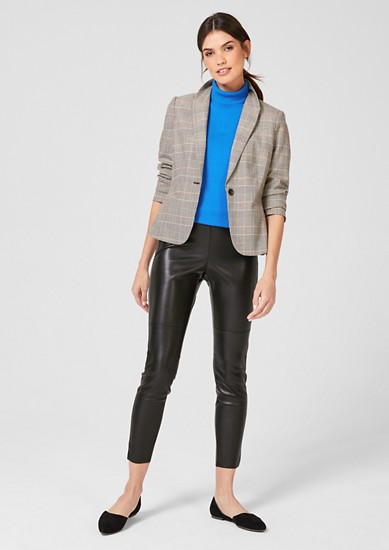 7/8-length faux leather trousers from s.Oliver