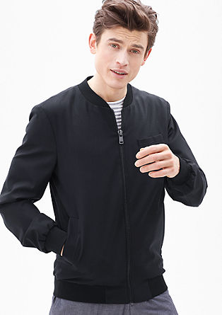 Bomber jacket in a lightweight, new wool blend from s.Oliver
