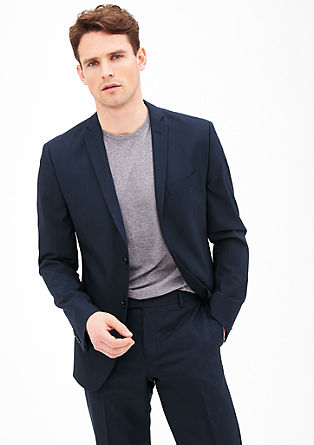 Slim: finely textured sports jacket from s.Oliver