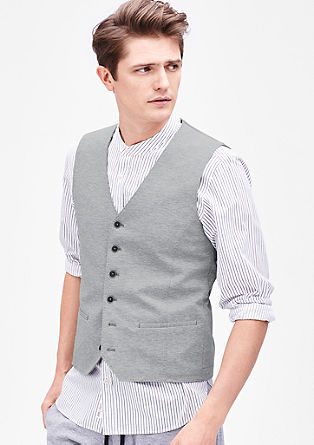 Jersey look waistcoat from s.Oliver