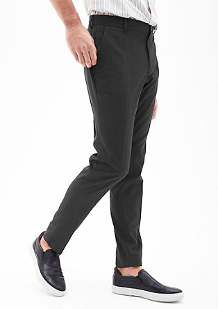 Slim: sporty business trousers from s.Oliver