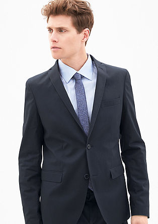 Slim fit: colbert met stretch
