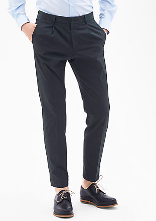 Slim fit: pantalon met stretch