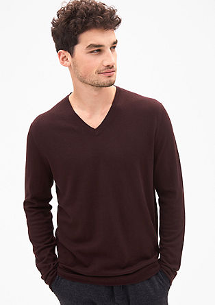 V-neck jumper with merino wool from s.Oliver