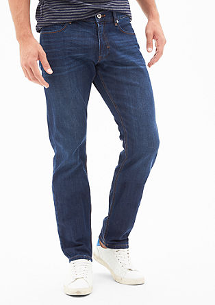 Stretto Straight: jeans with a washed finish from s.Oliver