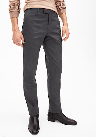 Cosimo Slim: melange suit trousers from s.Oliver