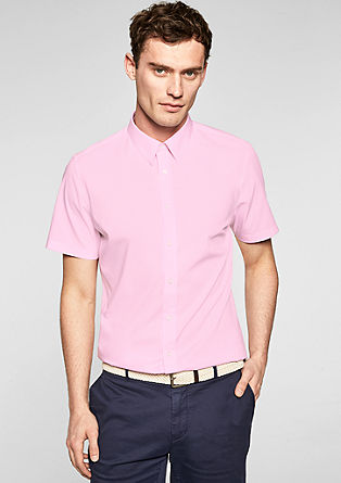 Slim Fit: chemise à manches courtes en popeline de s.Oliver