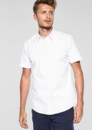 Slim Fit: elegant short sleeve shirt from s.Oliver