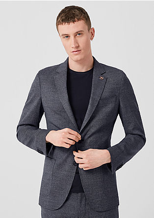 Slim: Limited edition new wool sports jacket from s.Oliver