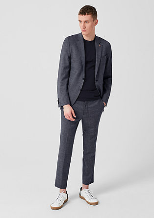 Slim: Limited edition new wool trousers from s.Oliver
