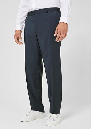 BIG SIZE: Pantalon van scheerwol