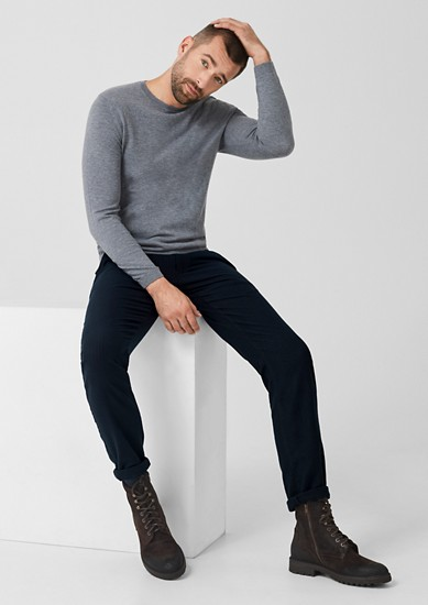 Slim: Chinos with pinstripes from s.Oliver
