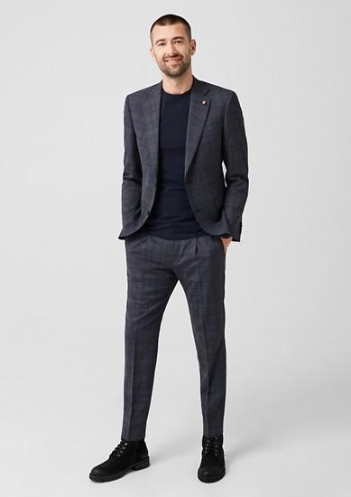 Slim: broek met prince-de-galles – limited edition