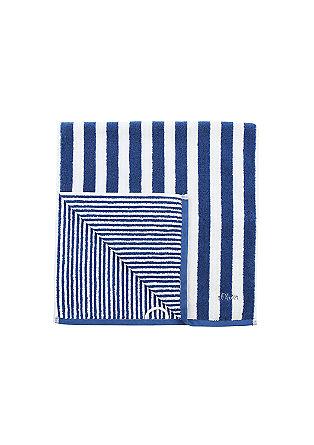 Weiches Frottier-Handtuch mit Streifen