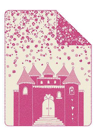 Jacquard-Decke mit Prinzessinnen-Schloss