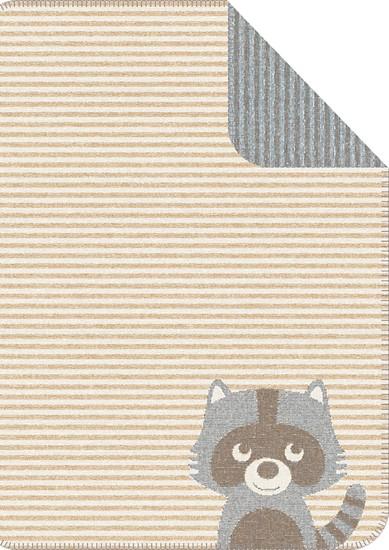Odeja za dojenčke z žakardskim vzorcem z motivom rakuna