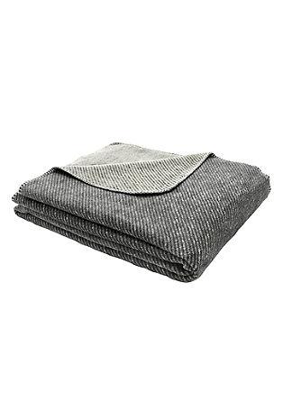 Jacquard deken met strepen