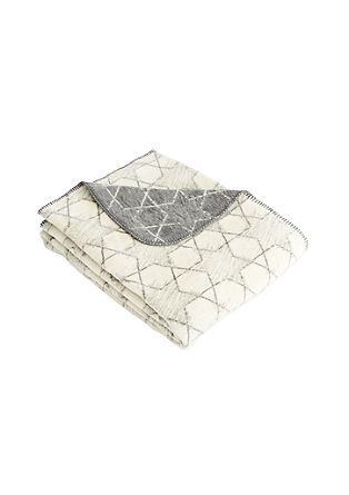 Jacquard-Decke mit Sternmuster