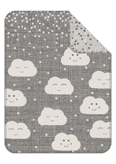 Odeja za dojenčke z žakardskim vzorcem in oblaki