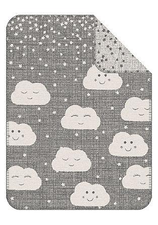Jacquard-Babydecke mit Wolken