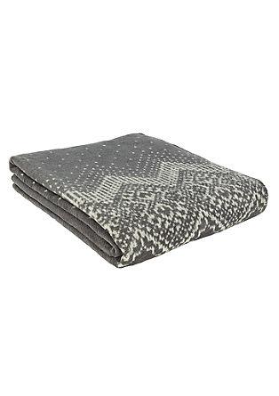 Jacquard deken met een ornamenteel motief