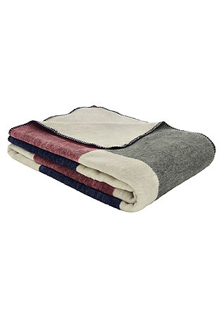 Geruite jacquard deken