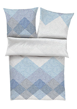 Mako-Satin Bettwäsche mit Muster