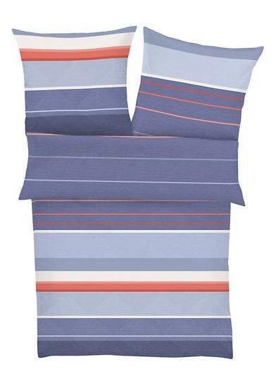 Mako-Satin Bettwäsche mit Streifen