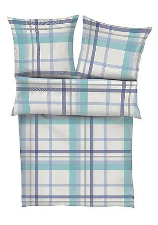 Makosatenasta posteljnina s karirastim vzorcem