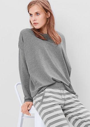 Svetleč sweatshirt pulover prevelikega kroja