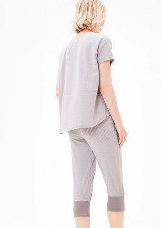 Gemusterte Nightwear-Caprihose
