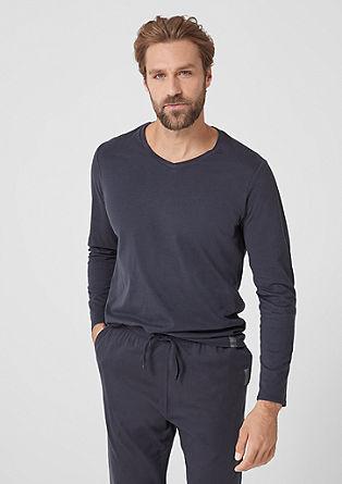 Basic tričko s dlouhým rukávem se špičatým výstřihem