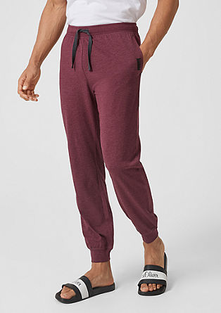 Leisure wear jersey trousers from s.Oliver