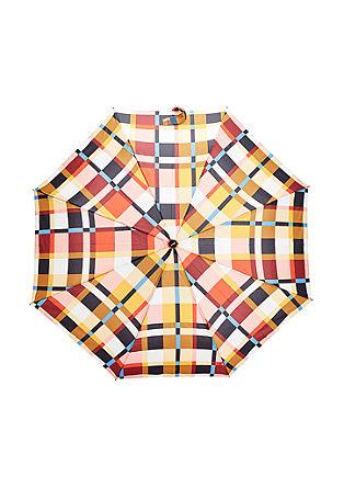 Paraplu met ruitdessin