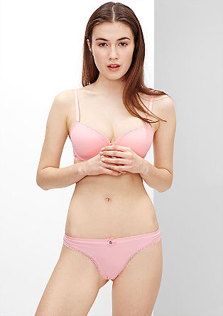 Thong with a lace border from s.Oliver