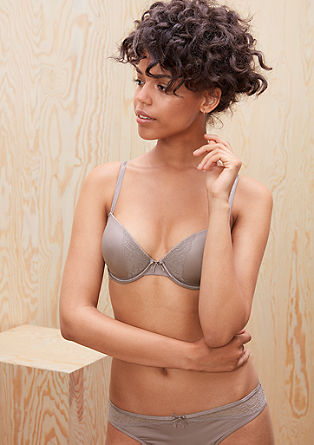 Cup bra with tonal lace from s.Oliver