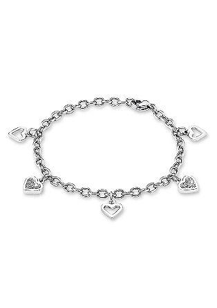 Armkette mit Herzanhängern
