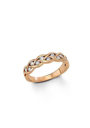 Geflochtener Ring mit Zirkonia
