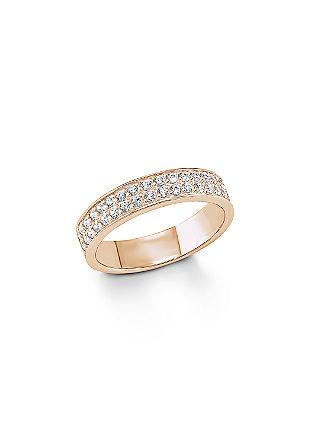 Silberring mit Rosévergoldung